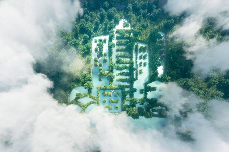 Ein Blick in die grüne Zukunft von oben