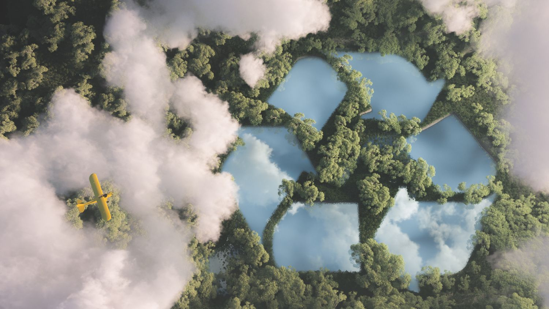 Wald von oben, Thema: erneuerbare Energie