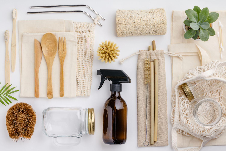 Ansammlung von nachhaltigen Produkten