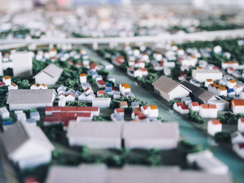 grüne Miniaturstadt