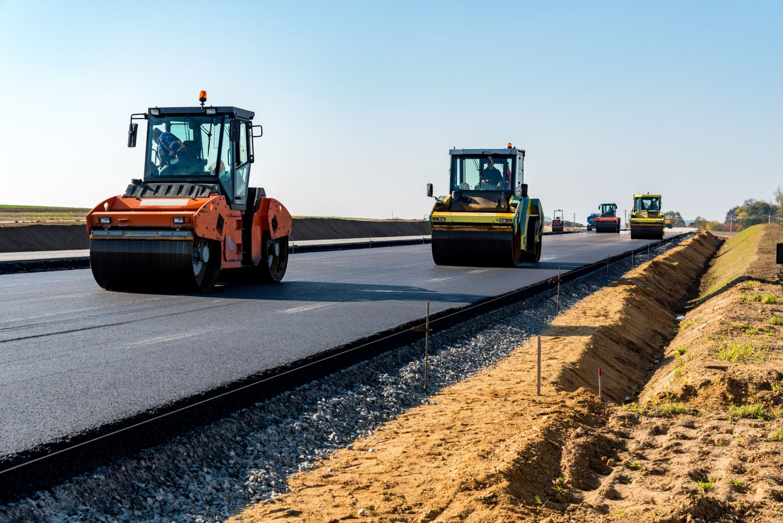 Eine Autobahn wird gebaut